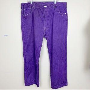 Levi's plus size purple 501 button fly jeans